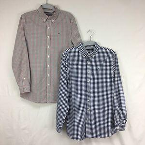 Set of 2 Vineyard Vines Button Down Whale Shirts